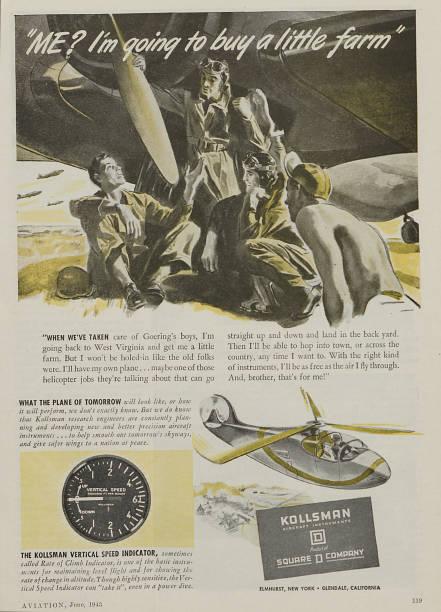 World War II Advertisement For Kollsman Aircraft Instruments