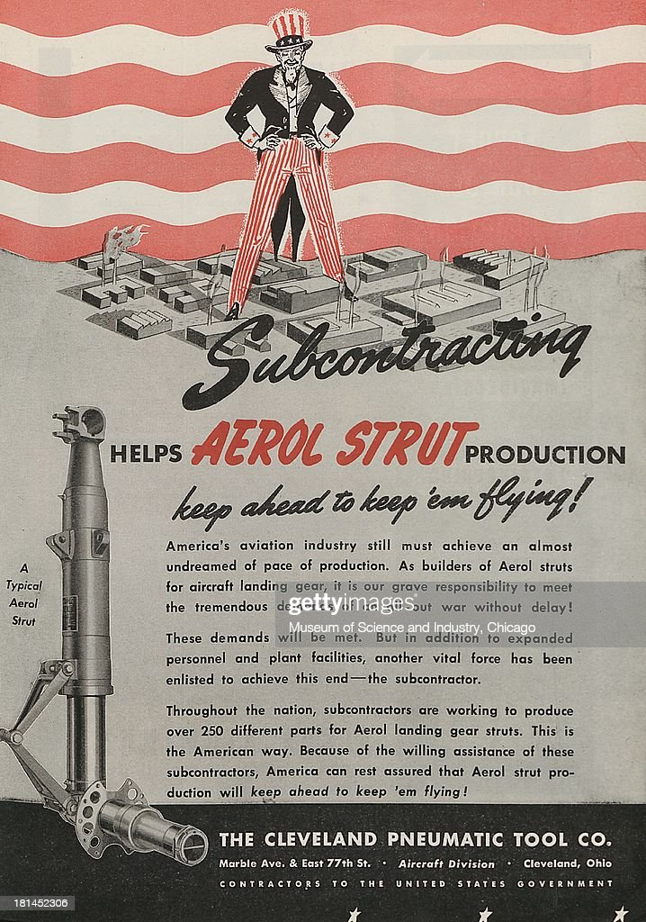 World War Ii Era Color Advertisement Subcontracting Helps Aerol News Photo Getty Images
