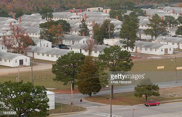 World War IIera white clapboard buildings still stand and are in use November 14 2002 in an overall view of Ft Bragg North Carolina Ft Bragg one of...