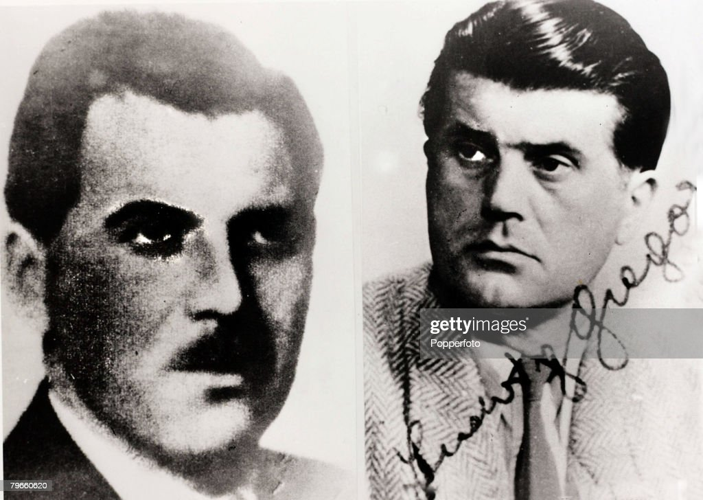 """World War II/Nazis, Dr,Josef Mengele, the Nazi """"Angel of Death"""" who became the most wanted Nazi of the Second World War, who went on the run afterwards and went to live in South America, The picture on the left is possibly from1956 and on the right the pi : News Photo"""