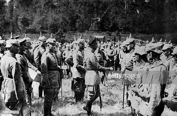 World War One Battle of Verdun The Crown Prince distributing crosses on the front in Verdun