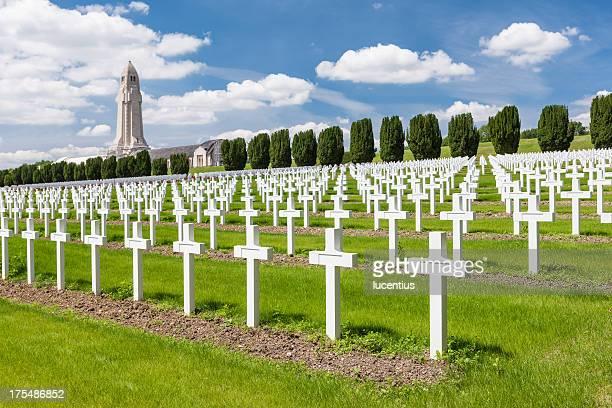 Guerre mondiale un cimetière de Verdun France