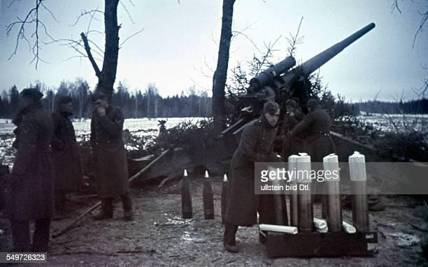 2 World War Soviet Union theater of war German heavy antiaircraft position about 1942/43 Foto Arthur Grimm