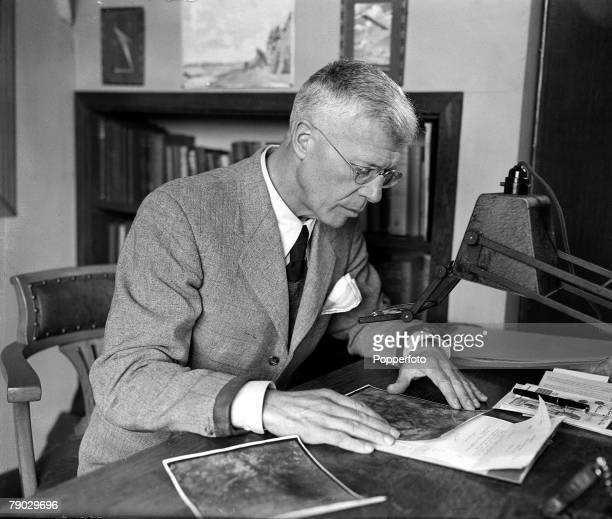 20th March 1945 Portrait of Barnes Wallis the British Engineer who designed the famous Bouncing Bomb that destroyed German Dams in 1943