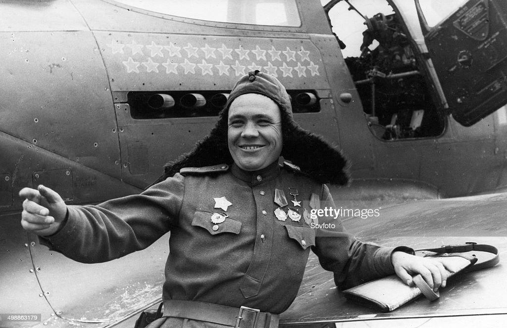 World War Two  April 1945  Fighter pilot Hero of the Soviet