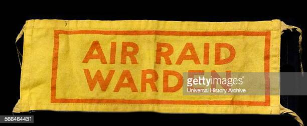 World war two armband for an Air Raid Warden in England 1940