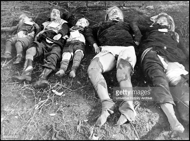 World War Two atrocities German family killed by advancing Soviet Army 1945