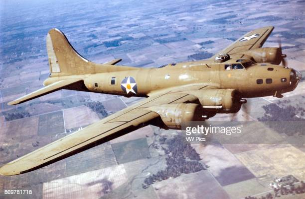 World War two B17E Flying Fortress bomber aircaft
