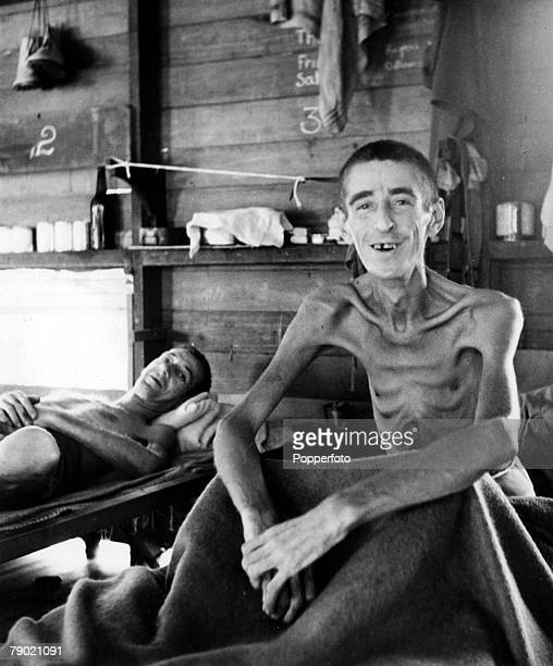 1945 World War Two John Sharpe of Foxon street Leicester who escaped from Thailand and who was placed in a torture jail in Singapore spending 3 years...