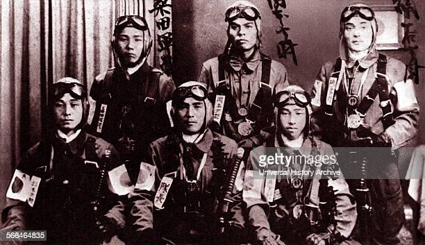 World War Two kamikaze suicide pilots of the Imperial Japanese Navy 1943.