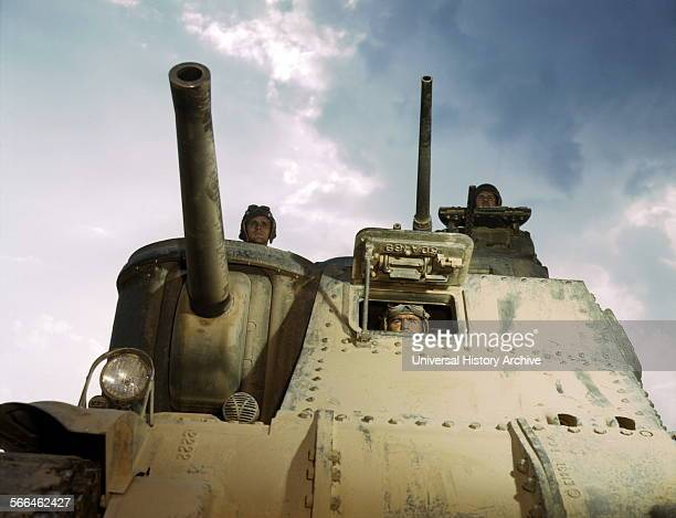 World War Two M3 medium tank and its US Army crew Fort Knox Kentucky United States June 1942