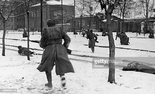 World War Two November 1941 Street fighting with German invaders in RostovonDon