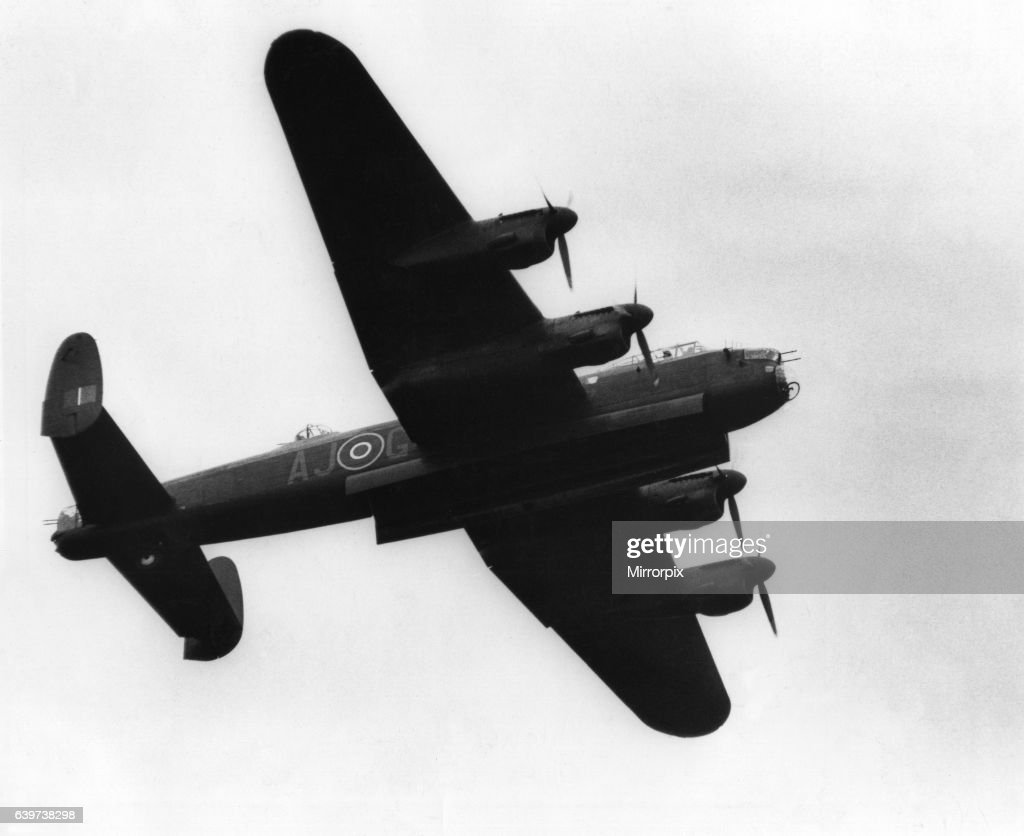 A World War Two RAF Avro Lancaster bomber aircraft, complete with