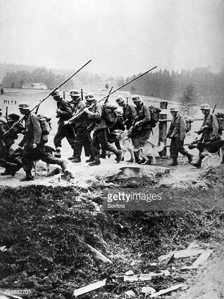 World War Two. The German occupation of Bohemia and Moravia on March 15, 1939. German troops invading the territory of the Czecoslovak Republic.