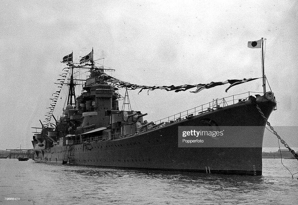 World War Two, The Japanese warship Ashigara News Photo