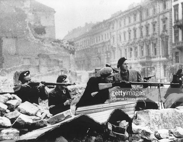 The Warsaw Uprising by the Polish resistance Home Army to liberate Warsaw from Nazi Germany 1944