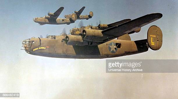 World War Two US B24 Liberator aircraft of the 93rd Bomb Group 1943