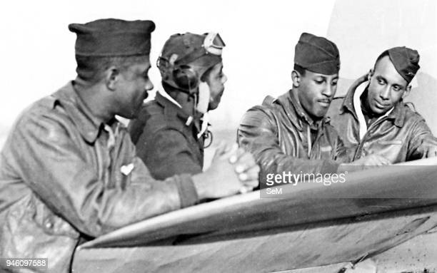 World WarItaly World War IIWar in Italy January 29 1944 U S Air Force USAF African American pilots of the 29th fighter squadron shortly before action...