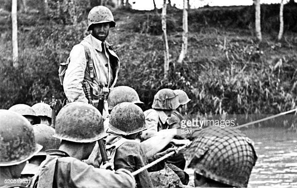 World WarItaly World War IIWar in Italy October 1943 American assault troops crossing the river Volturno in southern Italy