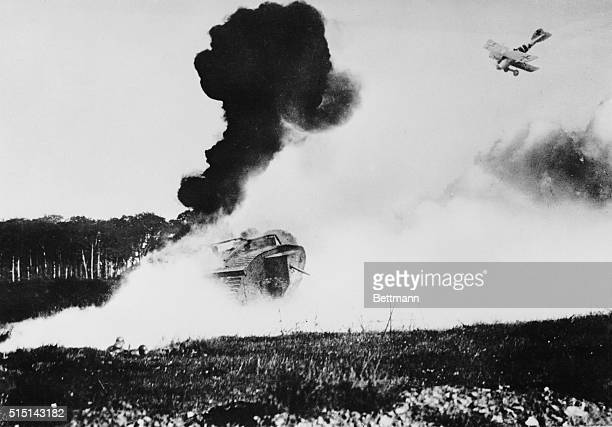 World WarWestern Front Attack On An English Tank 191418 saw the birth of the tank and the military plane presaging the shape of things to come Now 25...
