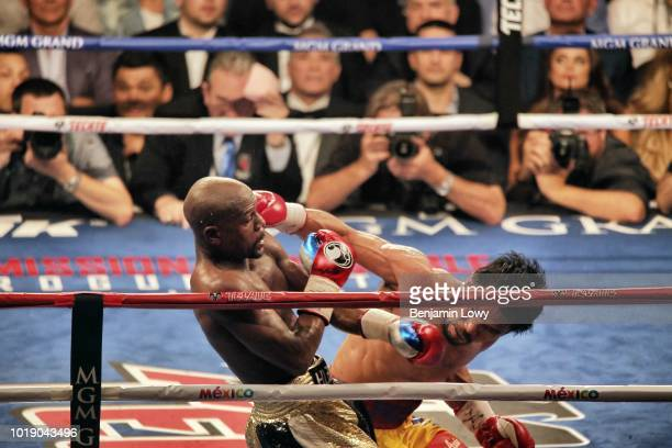 World welterweight championship bout between Floyd Mayweather Jr and Manny Pacquiao at MGM Grand Garden Arena on May 2 in Las Vegas Nevada