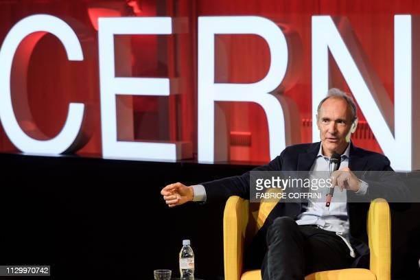 World Wide Web inventor Tim BernersLee takes part in an event marking the 30 years of World Wide Web on March 12 2019 at the CERN in Meyrin near...