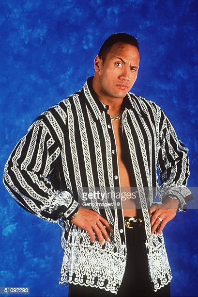 World Wrestling Federation's Wrestler Rock Poses June 12 2000 In Los Angeles Ca