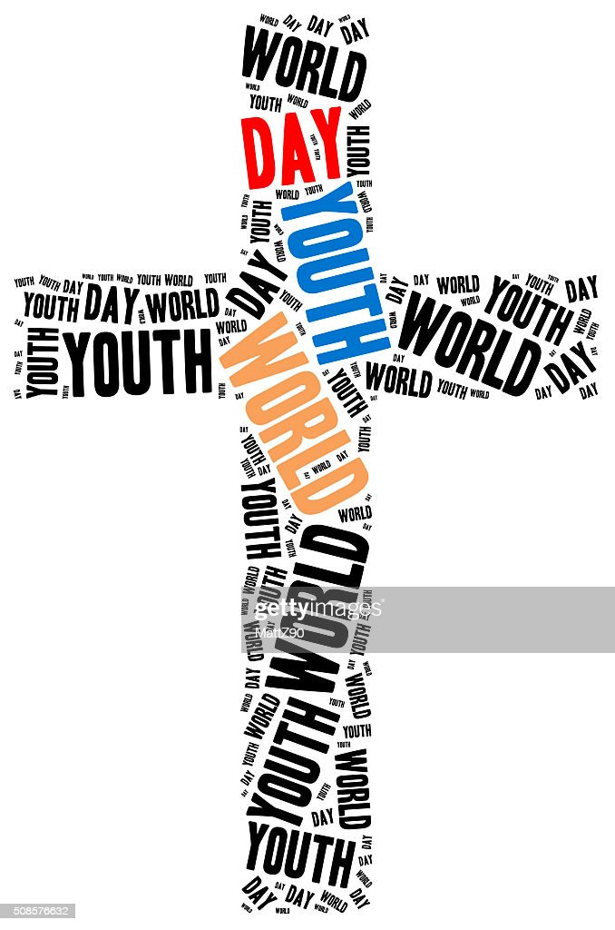 World youth day. Catholic and papal holiday. : Bildbanksbilder