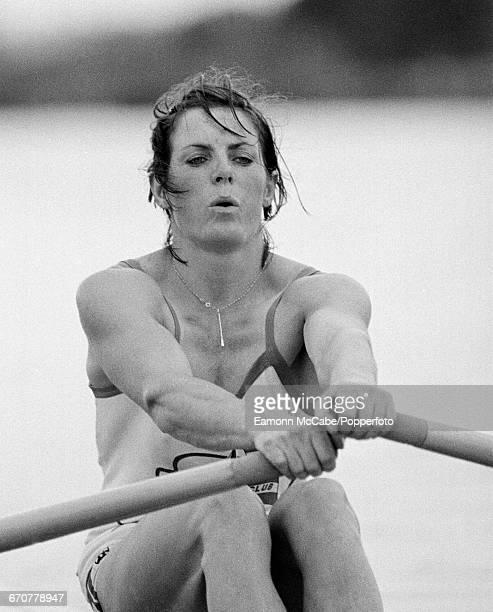 Worldchampionship and Olympic rower Beryl Crockford competing circa 1980
