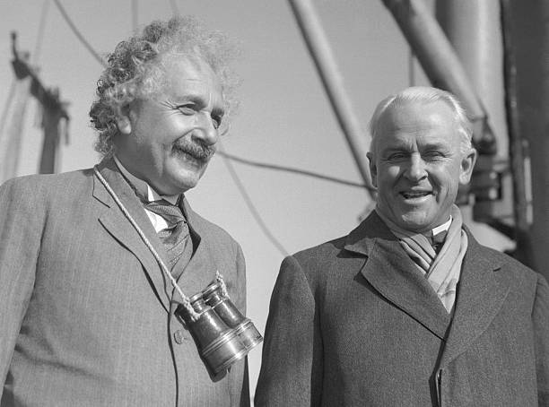 Albert Einstein and Robert Millikan Pictures | Getty Images