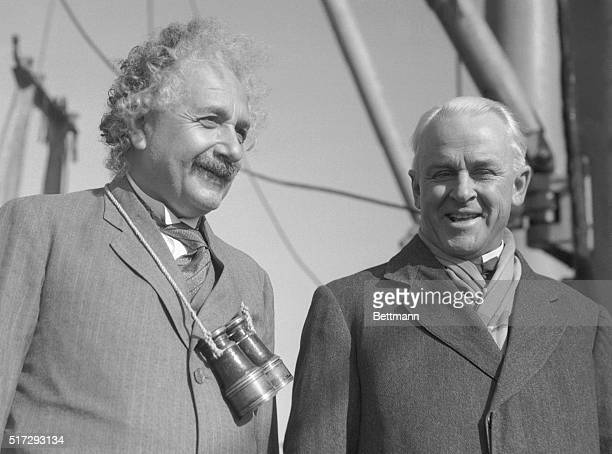 WorldFamed Scientists Meet When Dr Albert Einstein famous scientist arrived in Los Angeles aboard the SS Oakland Dr Robert Millikan head of the...