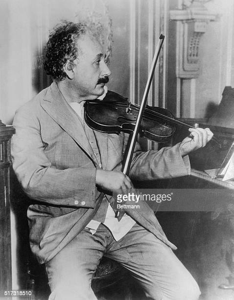 Worldfamous Physicist and Professor Albert Einstein is shown seated aboard the SS Belgenland travelling from New York to San Diego Here he is seated...