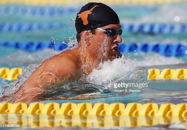 Worldrecord holder Brandon Hansen in the prelims of the Men's 200meter Breastroke at the Santa Clara 39th International Swim Meet 2006 USA Swimming...