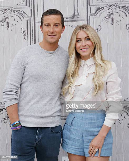 Worldrenowned adventurer Bear Grylls and actor/dancer Julianne Hough visit AOL Build Speaker Series for 'Running Wild with Bear Grylls' at AOL HQ on...