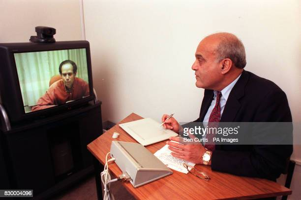 Worldrenowned surgeon Professor Sir Magdi Yacoub at the Royal Brompton Hospital in London today shows that distance is no bar as he links up with his...