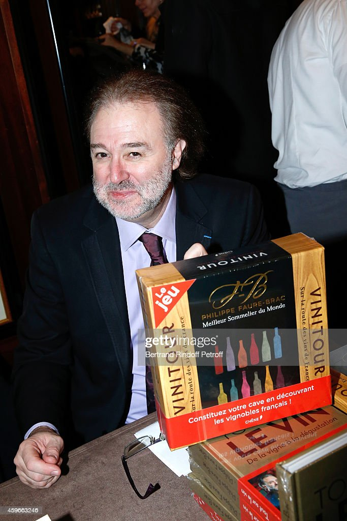 World's best sommelier in 1992 Philippe Faure-Brac attends the 37th Writers Cocktail, organized by Circle Maxim's Business Club in Fairs Fouquet's, on November 27, 2014 in Paris, France.