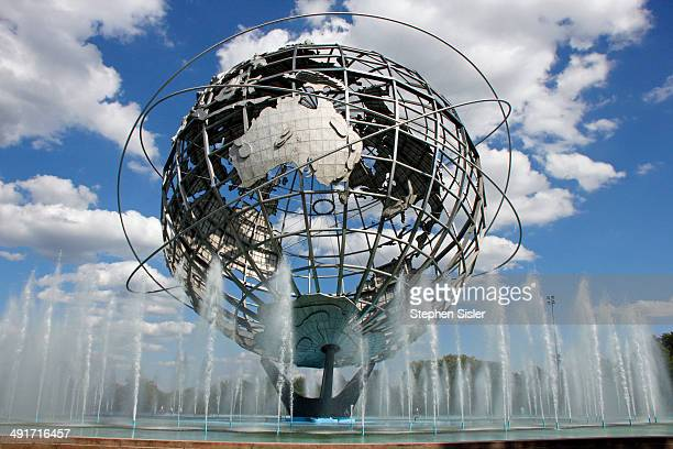 Worlds Fair 50 Years Old Queens NY Symbol Flushing Meadows Corona Park Giant Steel Globe Symbol Of World Peace Peace Through Understanding