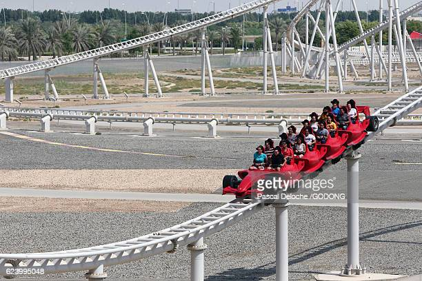 World's fastest Roller coaster at Ferrari World in Abu Dhabi