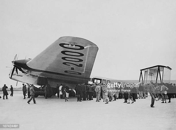 Worlds German Largest Aeroplane Type Junkers G 38 Arrives In England At England In Europe On June 11St 1931