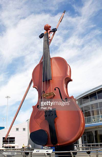 world's largest fiddle in sydney, nova scotia - biggest stock pictures, royalty-free photos & images