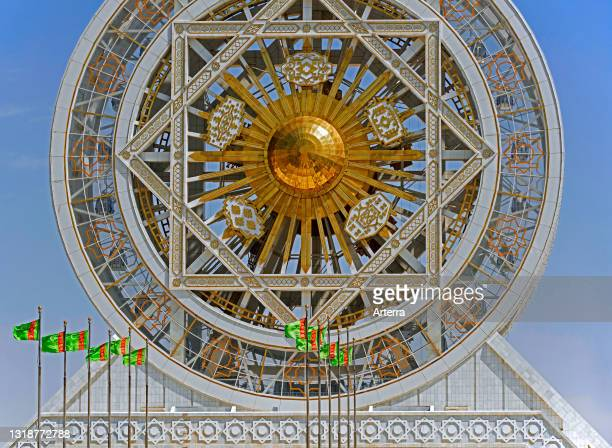 World's largest indoor Ferris wheel at the Alem Cultural and Entertainment Center in the capital city Ashgabat, Turkmenistan.