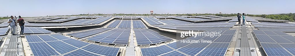 World`s largest Rooftop Solar Photovoltaic Power plant 115 MW installed on single roof at Dera Baba Jaimal Singh Beas inaugurated by Punjab Chief...