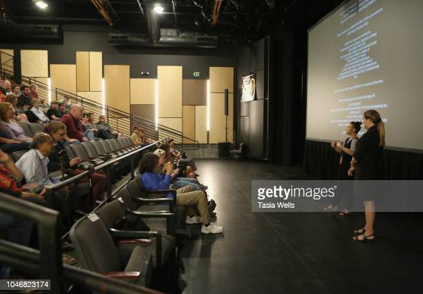 'Worlds of Ursula K Le Guin' director Arwen Curry and Santa Cruz Film Festival director Catherine Segurson speak onstage at the 2018 Santa Cruz Film...