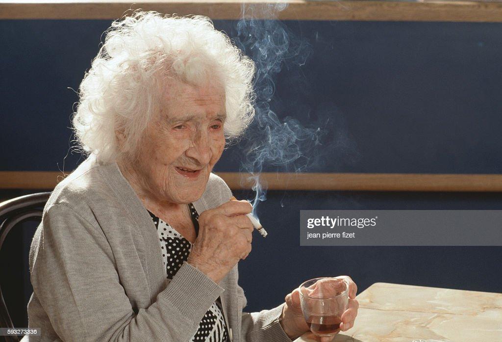 Jeanne Calment's 117th Birthday : News Photo
