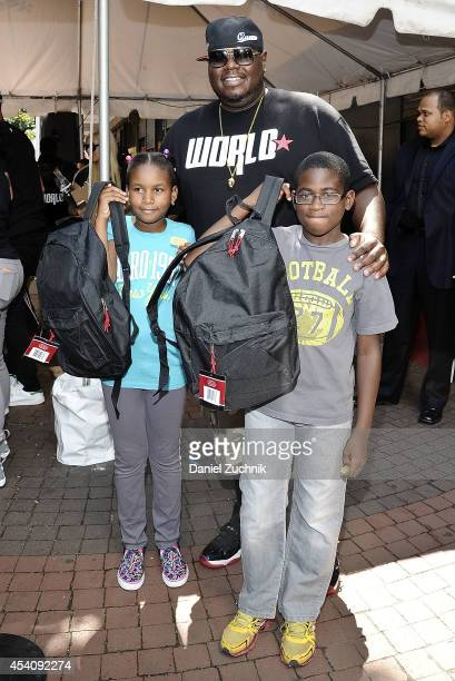 WorldStarHipHop CEO Lee O'Denat attends the 2nd Annual Worldstar Foundation Back To School Giveaway at Jamaica Colosseum Mall on August 24 2014 in...