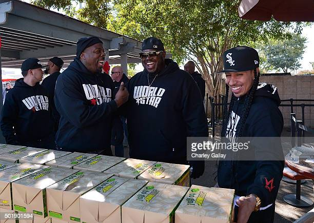 WorldStarHipHop Founder Lee ÒQÓ O'Denat participates in WorldStarHipHop's 3rd Annual Skid Row Holiday Giveaway on December 18 2015 in Los Angeles...