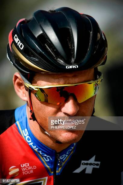 UCI WorldTeam BMC Racing Team's Belgian rider Greg Van Avermaet looks on before the second stage of the 2018 cycling Tour of Oman from Sultan Qaboos...