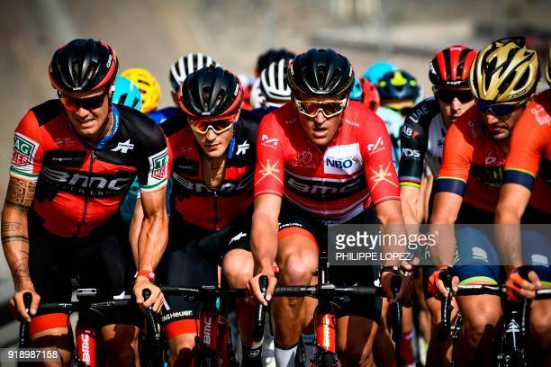 UCI WorldTeam BMC Racing Team's Belgian rider Greg Van Avermaet rides during the fourth stage of the cycling Tour of Oman between Yiti and Ministry...