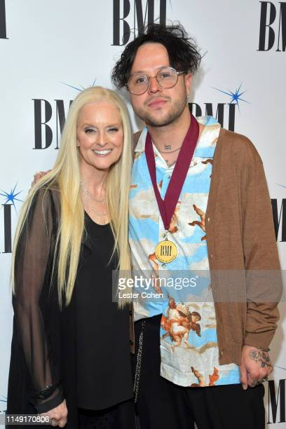 Worldwide Creative VP Advisor to the Creative Licensing EVP Barbara Cane and Mitchy Collins attend the 67th Annual BMI Pop Awards on May 14 2019 in...