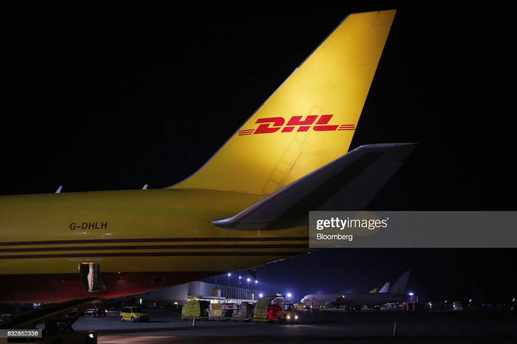 Worldwide Express cargo jet sits parked on the tarmac at the company's hub of Cincinnati/Northern Kentucky International Airport in Hebron, Kentucky, U.S., on Wednesday, Aug. 16, 2017. The Deutsche Post AG, parent company to Worldwide Express, second-quarter operating profit jumped 12 percent as the German mail operator handled more express deliveries and won more business at its logistics unit. Photographer: Luke Sharrett/Bloomberg via Getty Images